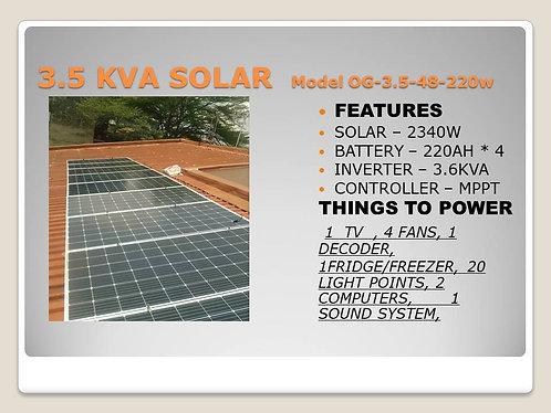3.5 KVA SOLAR BASIC