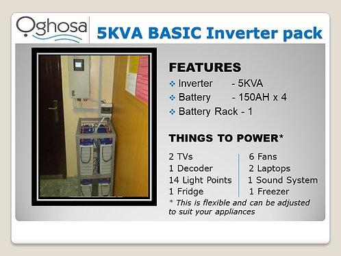 5 KVA BASIC INVERTER PACK