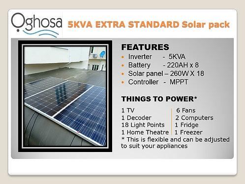 5 KVA EXTRA STANDARD SOLAR PACK