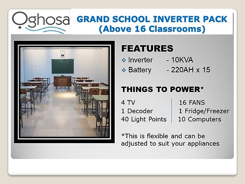 GRAND SCHOOL INVERTER PACK