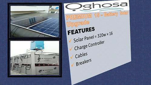 PREMIUM 15 - BATTERY SOLAR UPGRADE