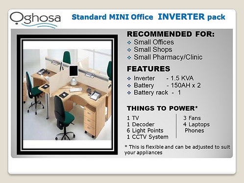 STANDARD MINI OFFICE INVERTER PACK
