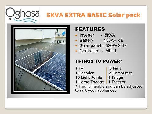 5 KVA EXTRA BASIC SOLAR PACK