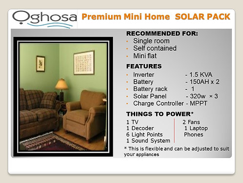 PREMIUM MINI HOME SOLAR PACK