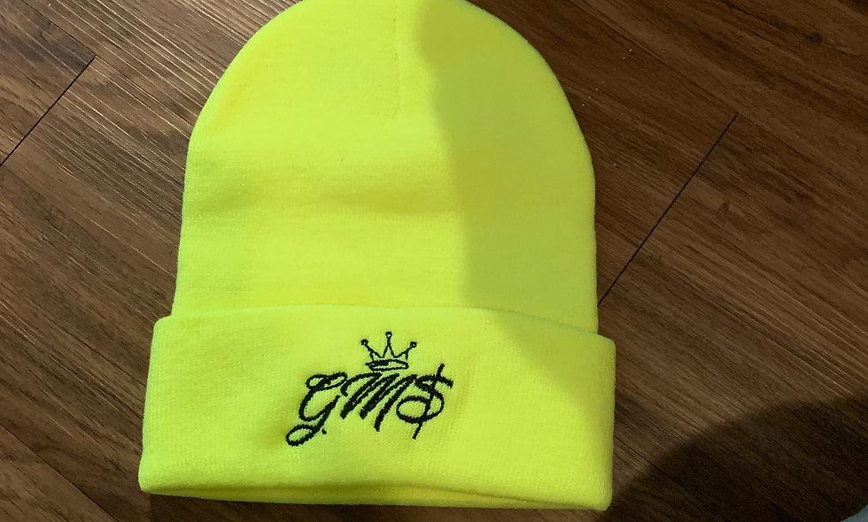GM$ Neon Green Beanie