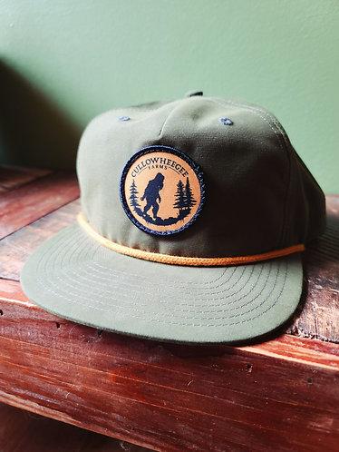 Green Structured Grandpa Hat