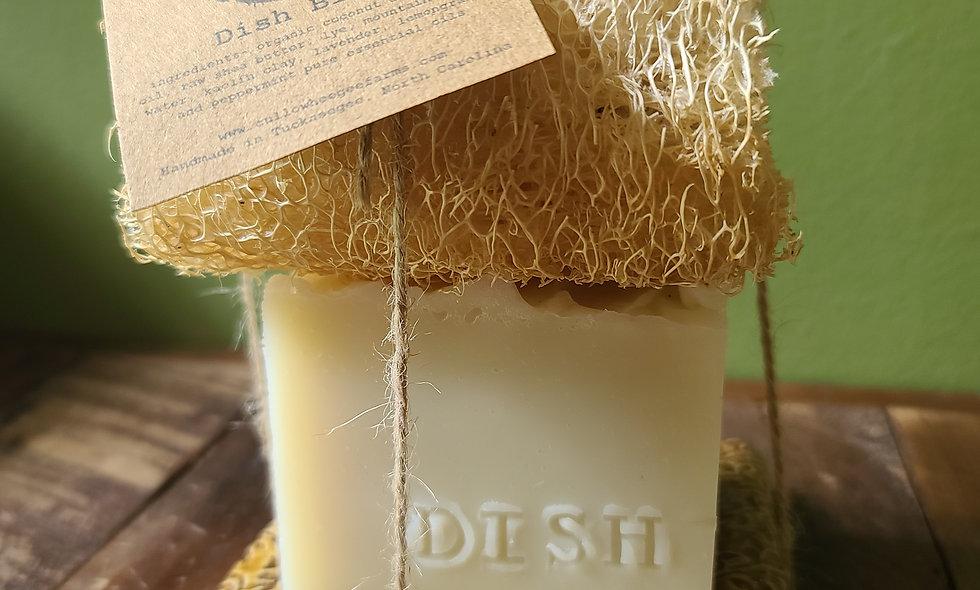 Dish Block - Loofa - Soap Dish Set