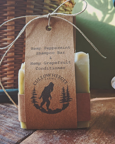 Hemp Peppermint Shampoo & Hemp Grapefruit Conditioner Pack