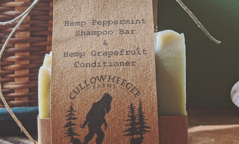 Hemp Peppermint Shampoo & Hemp Grapefruit Conditioner Pack