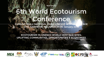 Benjamin as a Speaker at the 6th World Ecotourism Conference - Malaysia