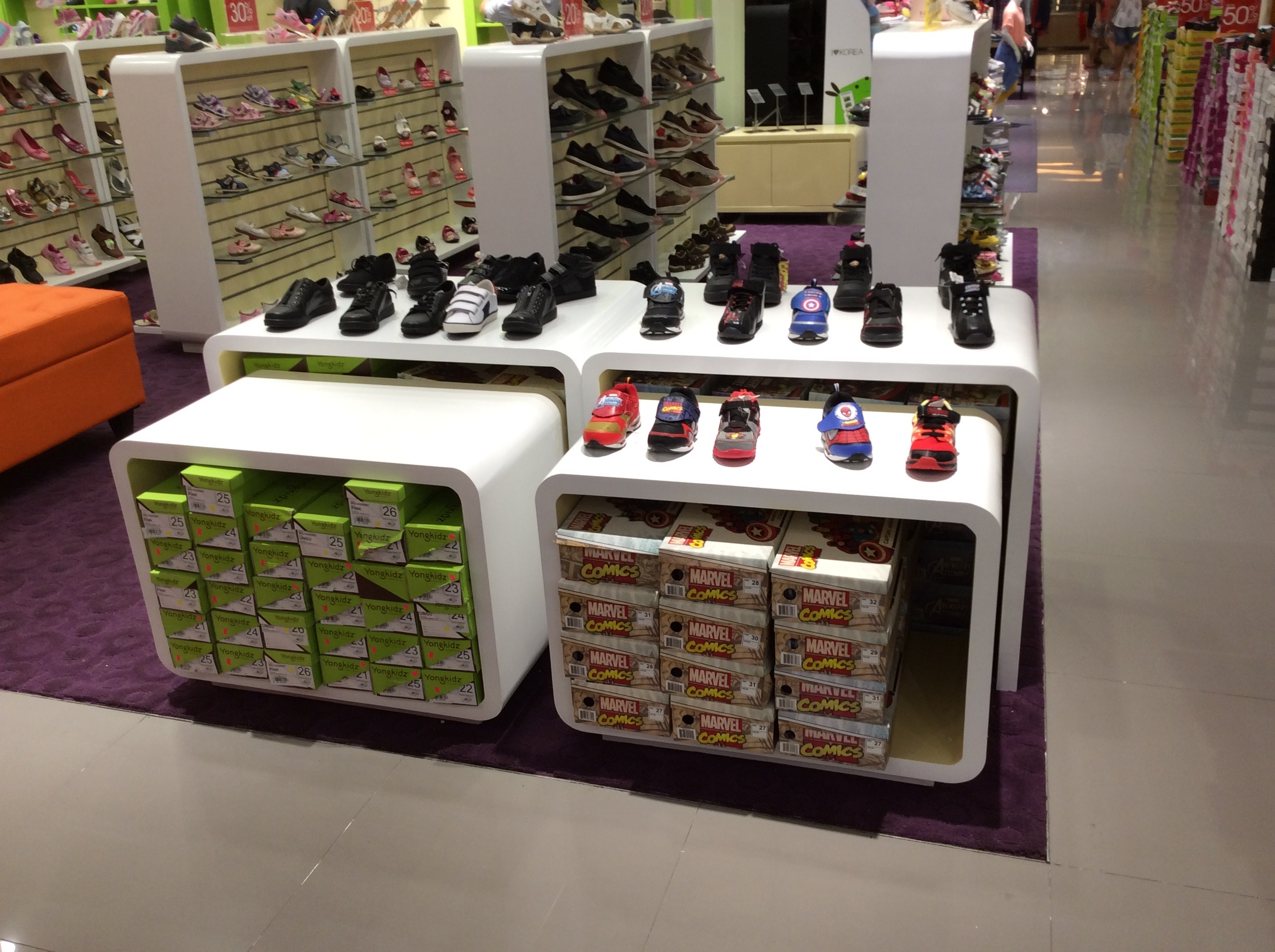 Table Display Children Shoes