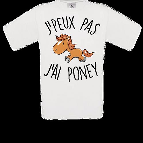 tee shirt enfant j'ai poney