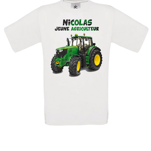 tracteur jeune agriculteur tee shirt enfant