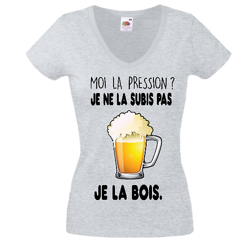 tee shirt biere pression femme