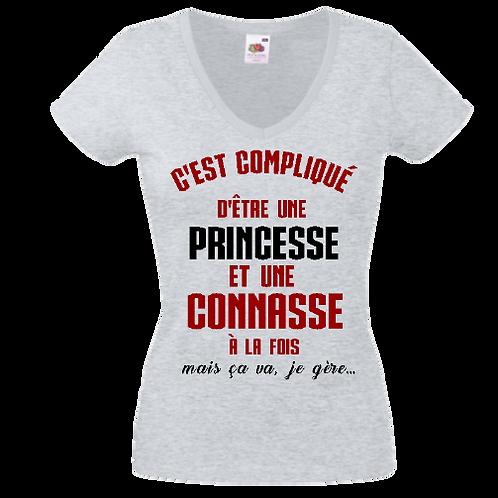 tee shirt princesse et connasse femme
