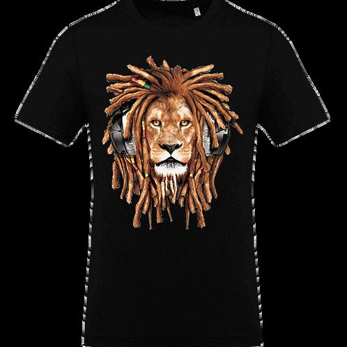 tee shirt lion rasta