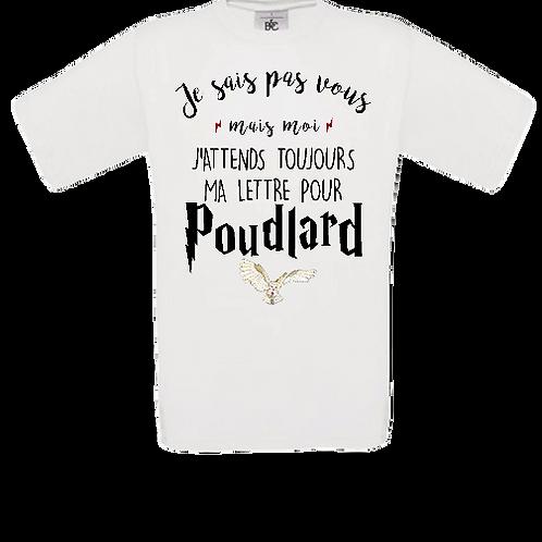 tee shirt enfant lettre Poudlard