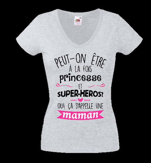 Préférence tee shirt maman super héros et princesse femme | Portez un t-shirt  LZ15