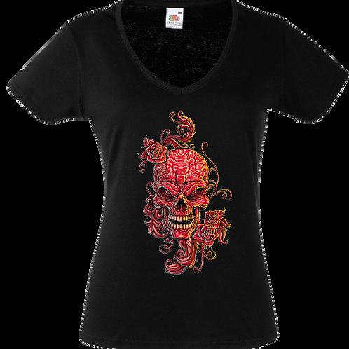 tee shirt tete de mort tatouage femme