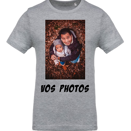 tee shirt personnalisé avec vos idées recto/verso Homme