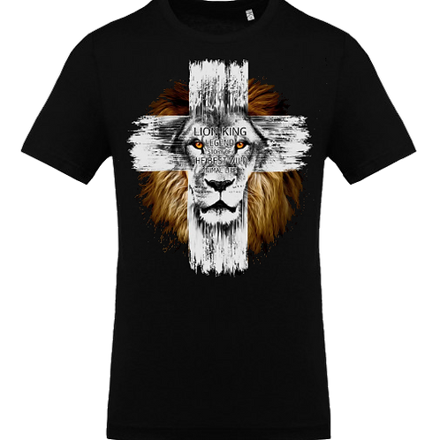 lion croix homme