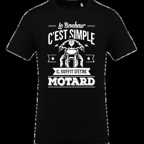 tee shirt bonheur simple motard