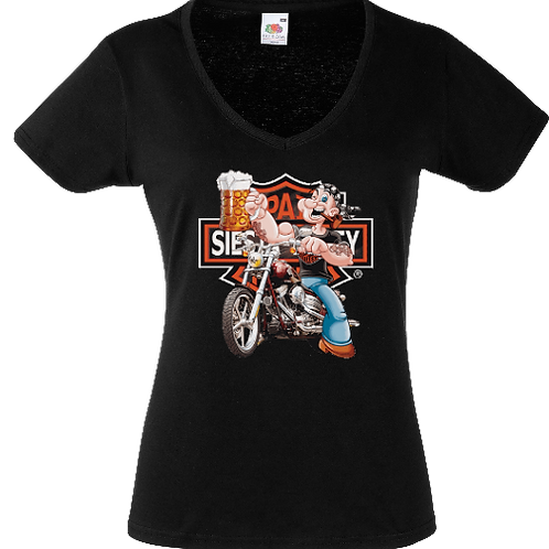 tee shirt tete popeye motard femme