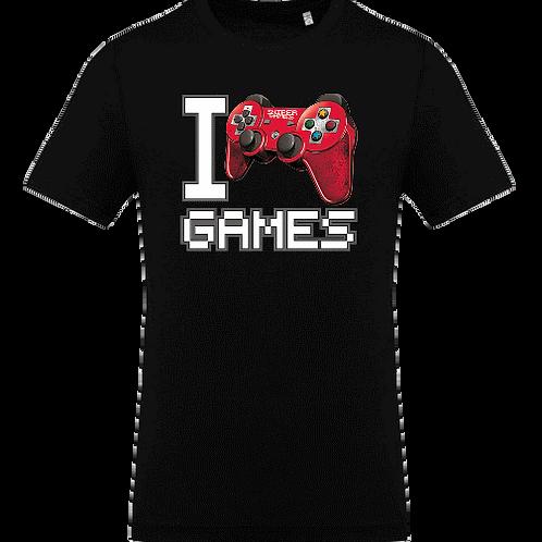 tee shirt enfant i love game