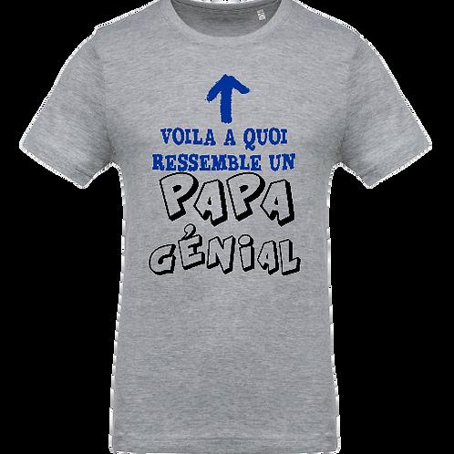 tee shirt papa genial