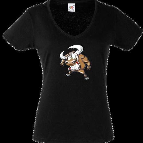 tee shirt taureau énervé femme