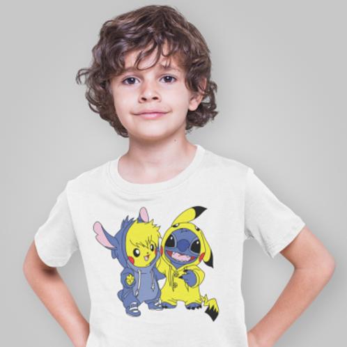 tee shirt enfant pika et extraterrestre