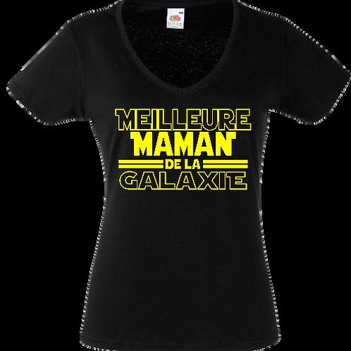 tee shirt meilleure maman de la galaxie femme
