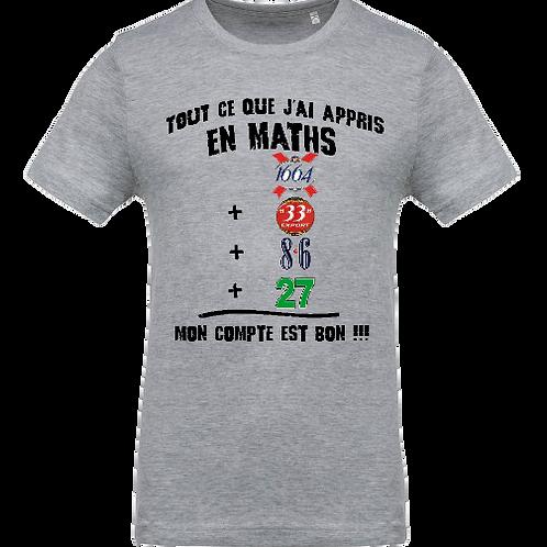 tee shirt ce que j'ai appris en math