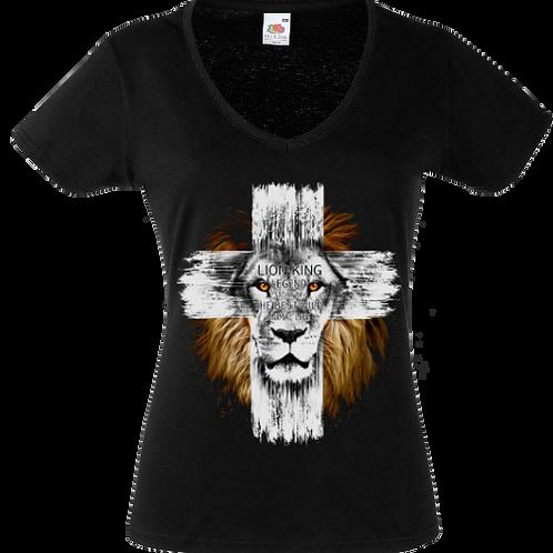 lion croix femme