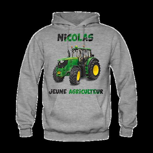 Sweat tracteur jeune agriculteur