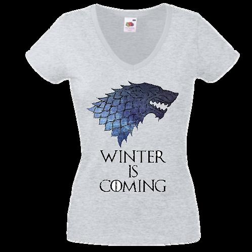 tee shirt winter is coming femme