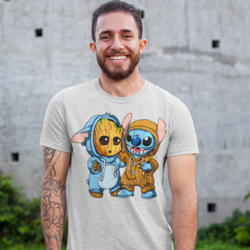Tee shirt heros arbre et extraterrestre