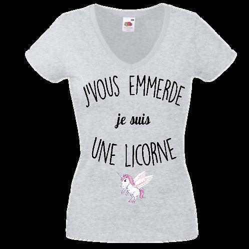 tee shirt je suis une licorne femme