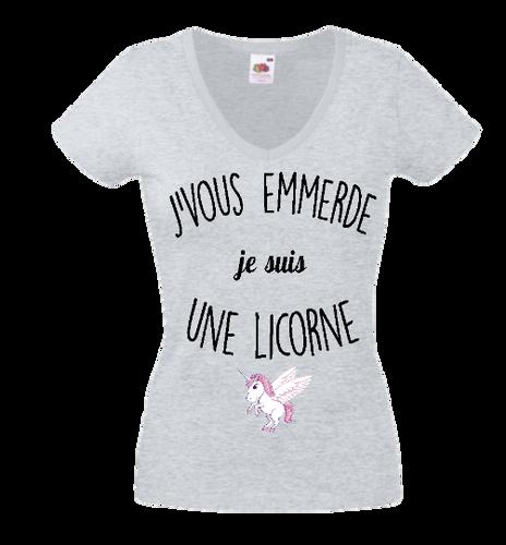 1Tee Bottines Femme Coupe Ample Je me fous je suis une licorne Mignon Panda In Disguise T-Shirt