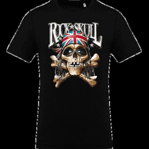 tee shirt tete de mort motard rock