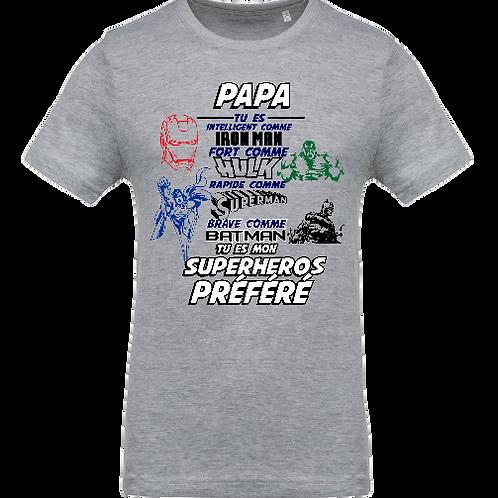 tee shirt super heros papa