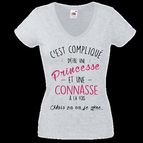 tee shirt princesse et connasse 2 femme