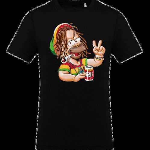 tee shirt Homer rasta