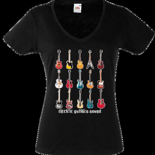 tee shirt guitare electrique femme