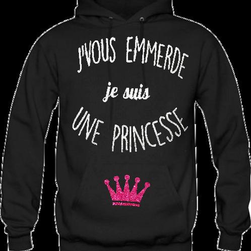 Sweat J'vous emmerde je suis une princesse