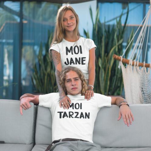 tee shirt couple tarzan jane