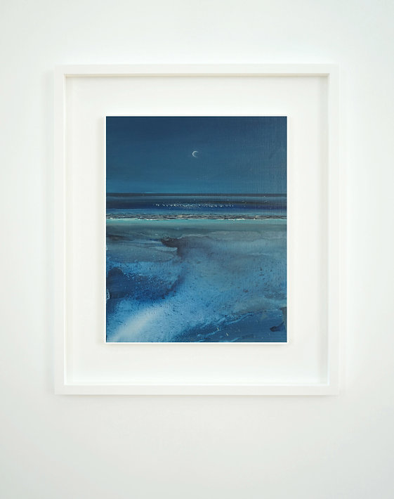 waning crescent moon watergate bay frame