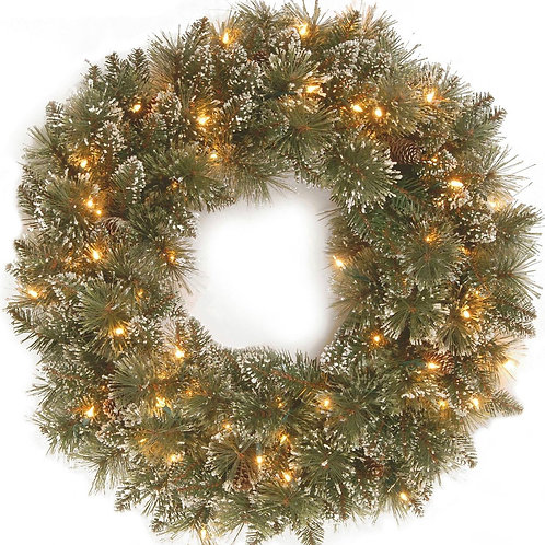 Premium Wreath LED 24""