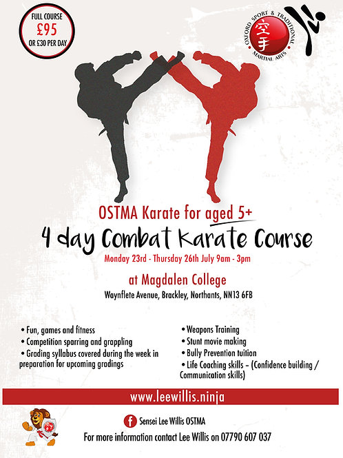 4 Day Summer Combat Course