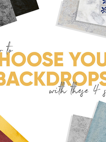 PHOTOGRAPHY BACKDROPS: 4 WAYS OF CHOOSING YOURS